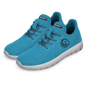 Giesswein Merino Wool Buty do biegania Mężczyźni, cyan blue